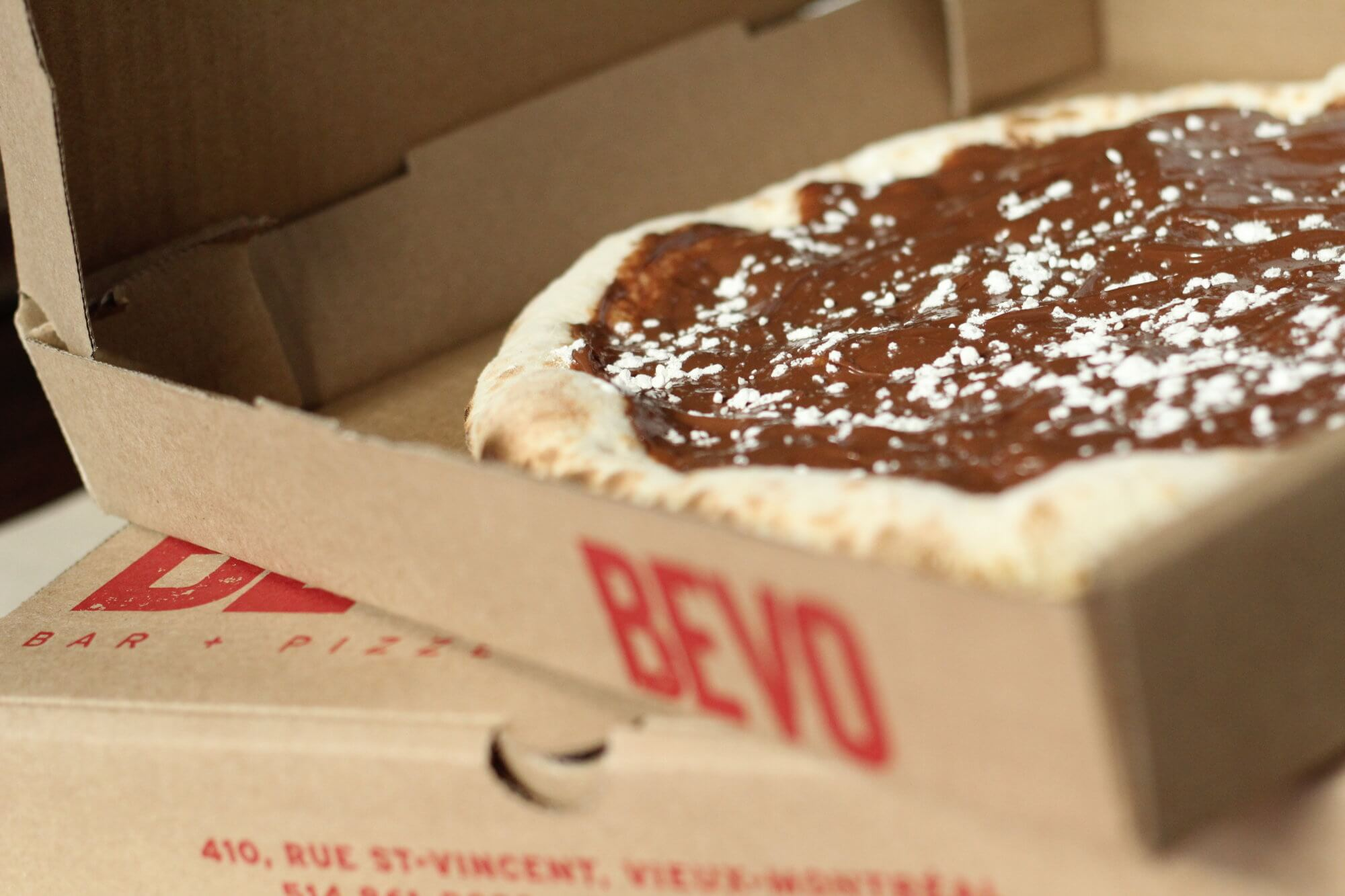 BEVO - PIZZA - pizza nutella - dessert